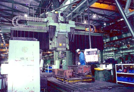 "Fanuc 9 CNC, X=246"", Y=114"", Z=19"", W=31.5"", 5-Sided, Head Changer, 60 Station Tool Changer, 30 HP, 50 Taper, 2000 RPM, 1986"
