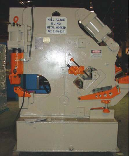 75 Ton Hill Acme Kling FOR SALE Hydraulic Ironworker