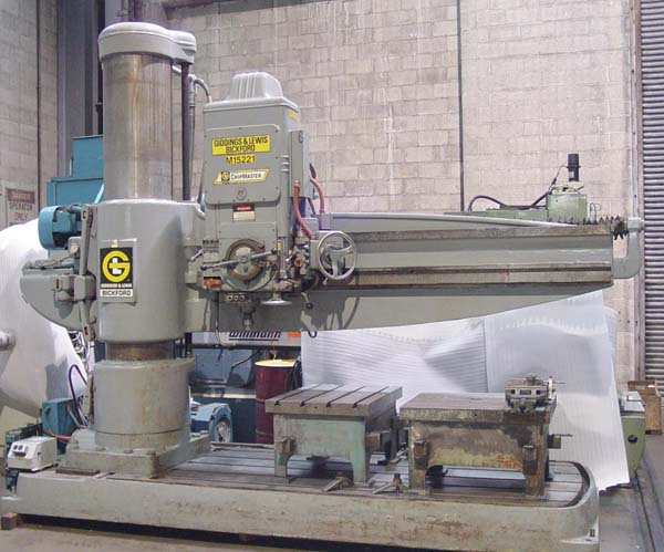"8' x 19"" GIDDINGS & LEWIS FOR SALE RADIAL DRILL"