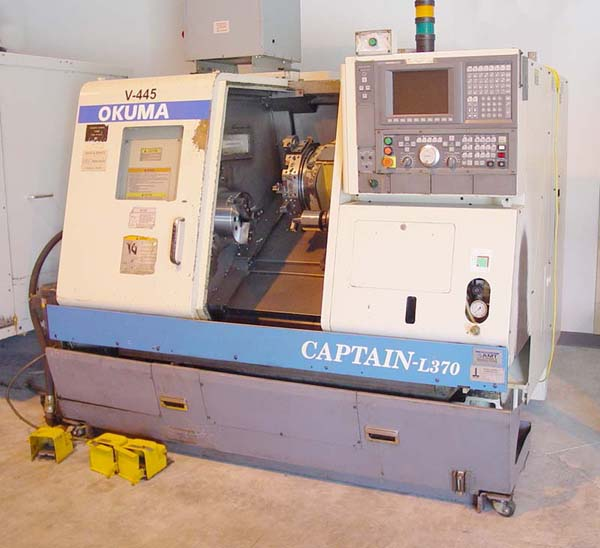 OKUMA CAPTAIN L370 Big Bore FOR SALE USED CNC LATHE CNC TURNING CENTER