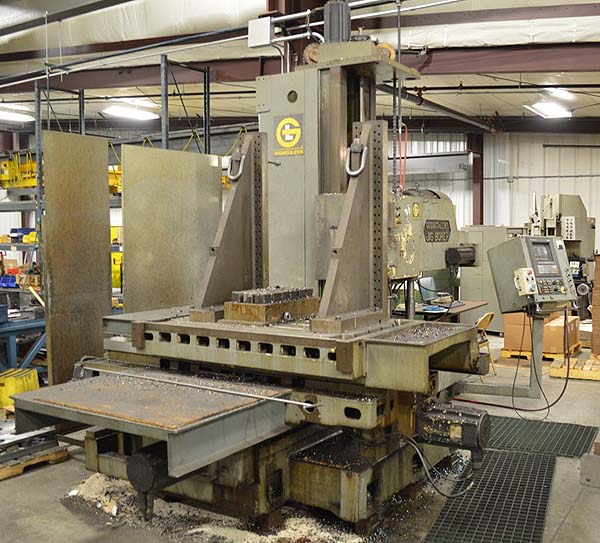 "4"" G&L Giddings & Lewis cnc Horizontal Boring Mill  for sale"