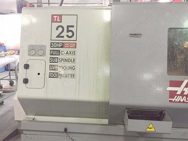 HAAS TL-25 CNC Turning Center with Live Tooling and Sub-Spindle  Haas Lathe with Live Tools  for sale